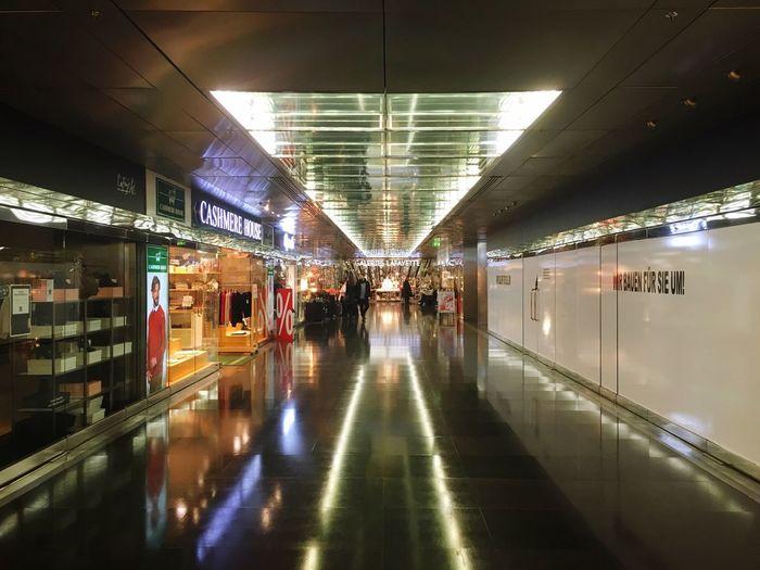 Hallway in shopping mall