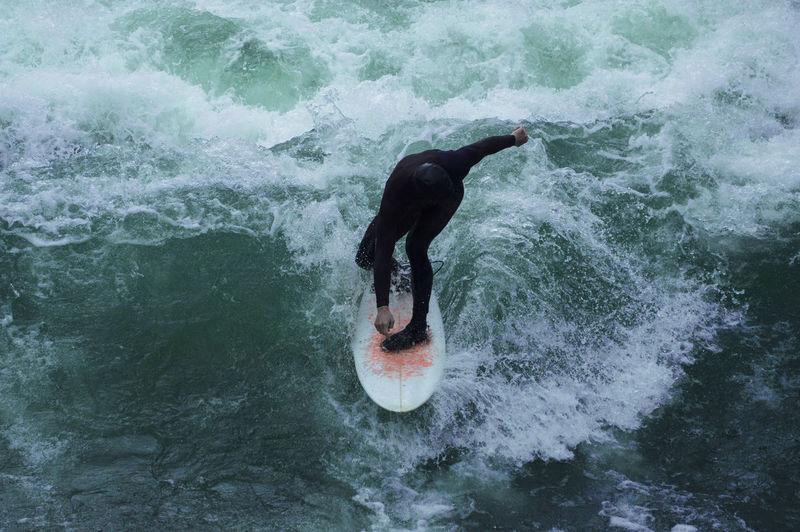 #surfing #river #water #sport #munich #Blue #wave Black The Great Outdoors - 2019 EyeEm Awards My Best Photo