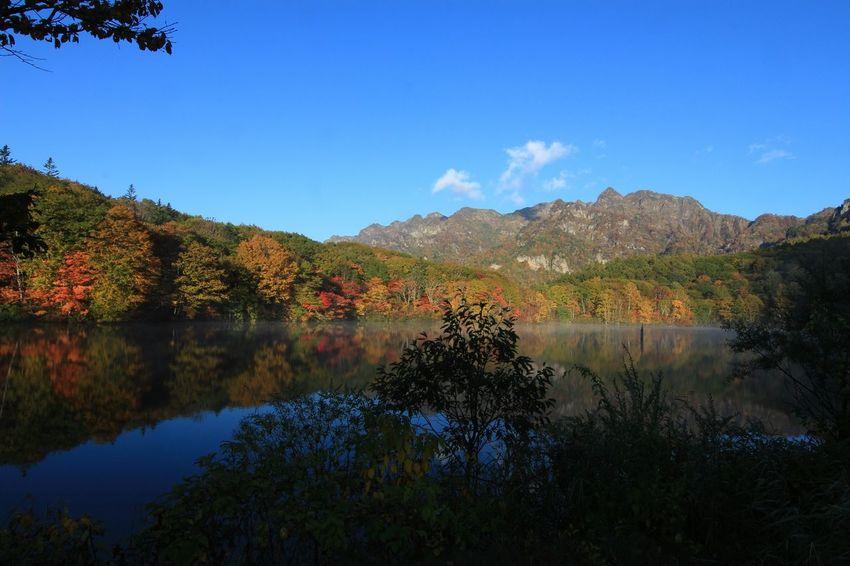 朝を向かえやっと鏡になった鏡池♪ Water Reflections EyeEm Best Shots Beautiful Nature EyeEm Nature Lover Lake View Lake Nature 鏡池すんごく人がいた💦😲
