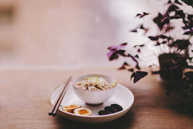 one of the sunday mornings Asian  Chopsticks Delicious Egg Food Food And Drink Freshness Healthy Eating Healthy Lifestyle Home Indoors  Japanese Food Meal Noodles Plants Ready-to-eat Soup Sunlight Table Window My Favorite Breakfast Moment EyeEm X My Muesli - Breakfast Moment