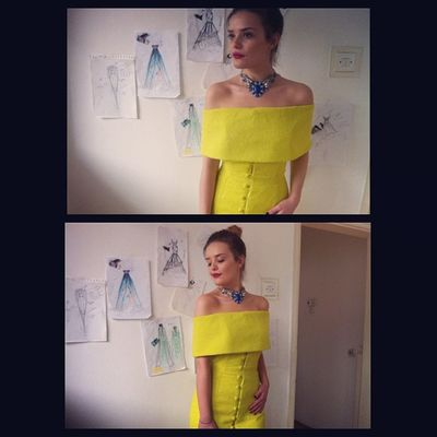 Neonlime Mididress Drenushaxharra IGDaily potd ootd igers fashion dress instafashion fashiondaily classy 60s goldenage urban fashiondesign @ideavraniqi
