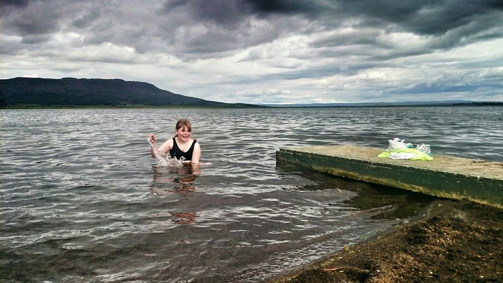 Swimming Beautiful Day Laugarvatn Geothermal Spa Geothermal  Quality Time Summertime