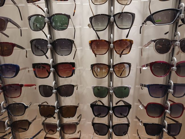Berlin, Germany - January 2, 2018: Sunglasses in store window display Fashion Window Display Choice Collection Eyeglasses  Eyeglasses  Eyesight Eyewear Fashion For Sale In A Row Indoors  Large Group Of Objects No People Protection Retail  Sight Sun Glasses Sun Protection Sunglases Sunglasess Sunglasses Sunglasses :) Sunglasses ✌👌 Sunglasses👓