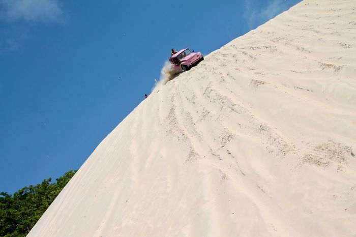 Woooouuuu ...The pink buggy! Adventure Beach Buggy Clear Sky Day Emotions Captured Landscape Leisure Activity Low Angle View Millennial Pink Motion Outdoors Sand Sand Dune Sport Summer Sunny Vacations