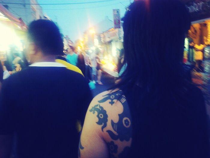body art jonker's street, malacca Trieste Tattoo Streetphotography