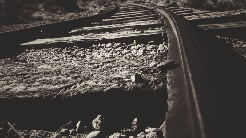 Traintrack Tracks Train Tracks Gravel Sepia Sepia Photography Sepia_collection Railroad Track Railroad Tie Rail Transportation