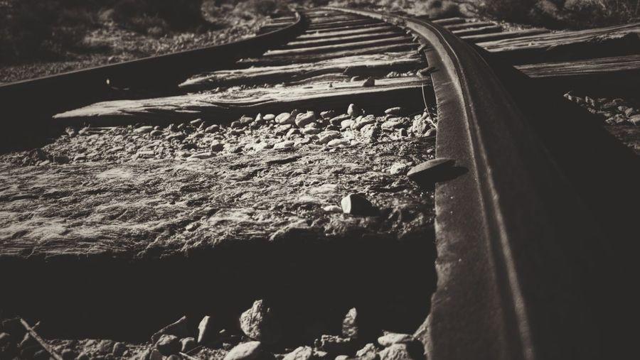 Traintrack Tracks Train Tracks Gravel Sepia Sepia Photography Sepia_collection Railroad Track Railroad Tie Rail Transportation
