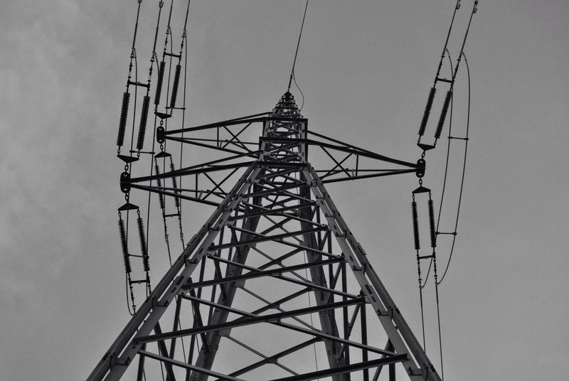 Nikonphotography Nikon No People Connection Electricity  Sky Cable Electricity Pylon Tower Low Angle View Built Structure Power Supply Technology Outdoors Day