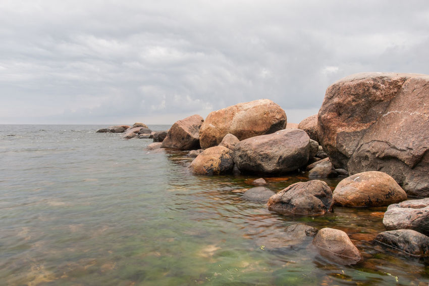 Baltic Sea Beach Beauty In Nature Boulder Boulevard Cloud - Sky Day Nature No People Outdoors Rock - Object Scenics Sea Sky Tranquil Scene Tranquility Water