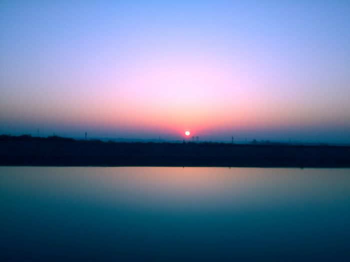 SunRise,Winter Morning,Winter,Morning,Sun, Sun With Water Tranquility Sunset