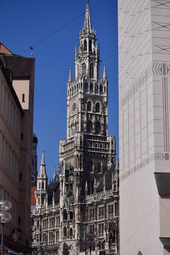Architecture Famous Place Glockenspiel Marienplatz NIKON D5300 Outdoors Tall - High Tourism Travel Destinations