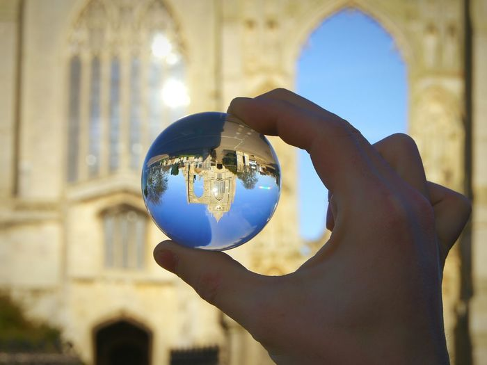 Architecture Personal Perspective Sphere Glass Crystal Ball Reflection Built Structure Outdoors