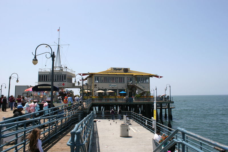Santa Monica PIer Buildings Architecture Building Exterior Built Structure California Clear Sky Day Large Group Of People Outdoors People Railing Santa Monica Santa Monica California Santa Monica Coast Santa Monica Pier Santa Monica Pier, California Santa Monica Pier, California ( USA ) Sea Sky