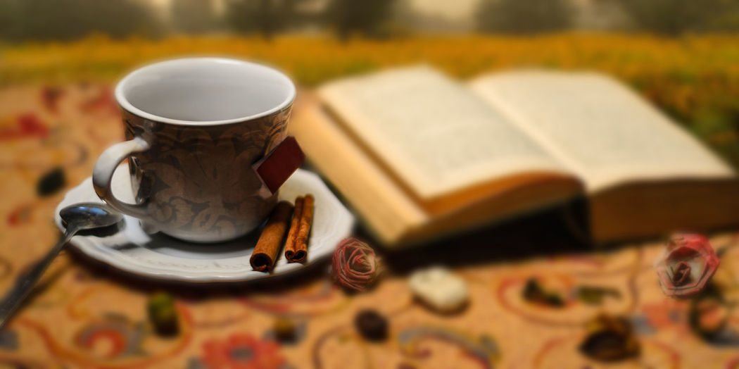 teatime in autumn Coffee Tea Tea Time Still Life Drink ArtWork Autumn Tranquility Cup Book Peaceful Food And Drink Calm Creativity Tea Cup TeaCup No People My Best Photo Tranquil Scene Food Stories Coffee - Drink Creative Space Visual Creativity Humanity Meets Technology #NotYourCliche Love Letter
