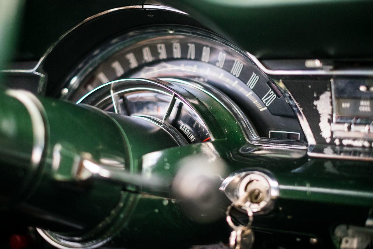 Close-Up Of Car Interior