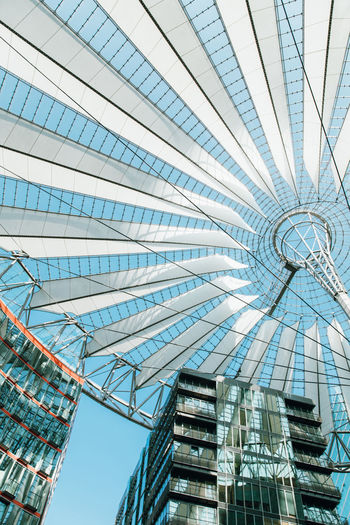 Architecture Building Building Exterior Built Structure Ceiling City Day Directly Below Glass - Material Low Angle View Modern Nature No People Office Office Building Exterior Outdoors Pattern Sky Skyscraper Tall - High Tower
