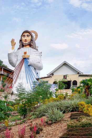 Giant Divine Mercy Statue Statue Statues Statues And Monuments Statues/sculptures Divine Mercy Shrine Divine Mercy EyeIMNewHere EyeEmNewHere EyeEm Best Shots EyeEm Selects EyeEm Gallery Eye4photography  Eyeem Philippines Cebu Philippines Portrait Sky Cloud - Sky Sculpted Sculpture Angel Virgin Mary Jesus Christ Carving - Craft Product A New Beginning