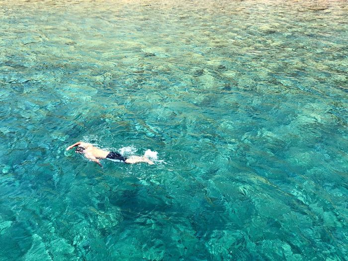 Swimming in crystal waters Water Swimming Leisure Activity Waterfront Lifestyles Nature High Angle View Sea Beauty In Nature Turquoise Colored Healthy Lifestyle Outdoors Snorkeling The Mobile Photographer - 2019 EyeEm Awards The Great Outdoors - 2019 EyeEm Awards My Best Photo