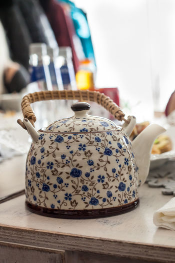 Close up of teapot