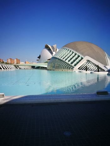 Oceanografic Valencia Travel Destinations Blue Travel Architecture Vacations No People Clear Sky Modern City