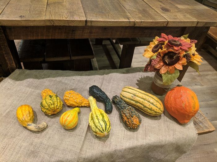fall crop Pumpkin Countryside Fall Season Country Nature Fall Table Decor Fall Table Flower Freshness Day No People Outdoors Healthy Eating