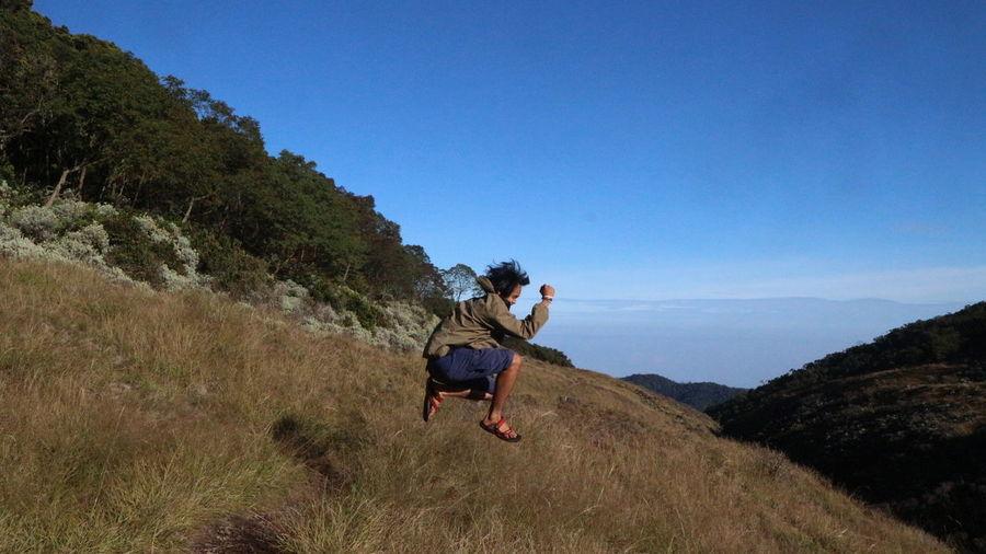 Jump in the mid of savanna