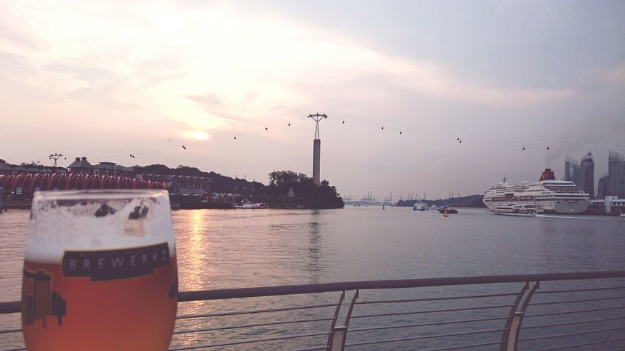Beer Craftbeer with Subset view at new Brewerkz Boardwalk Sentosa Vivocity Singapore