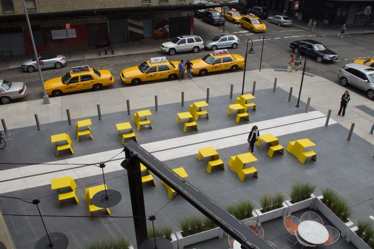 Have a seat! Paint The Town Yellow Furniture Design High Line Park, Nyc Take A Chair Yellow As NYC Cabs Yellow As Lemon Yellow Taxi Yep! Taxi