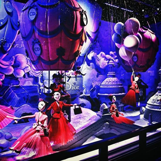 Christian Dior And Printemps Paris Window Display