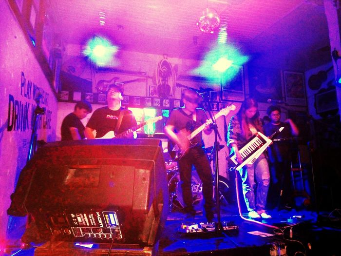 Art Is Everywhere Arts Culture And Entertainment Music Performance Musician Event Real People Stage - Performance Space Rock Music Musical Instrument Phillipines Autotelic Band Rock Musician Night
