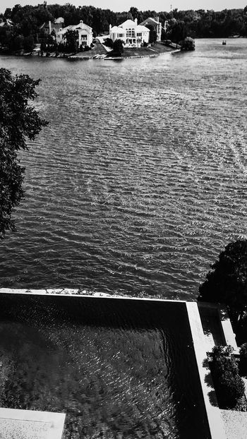 Water Outdoors Nature No People Day Sea High Angle View Beauty In Nature Lake Scenics EyeEm Best Shots Irwin Collection EyeEm Gallery Lake House  Wealth Wealthy Lifestyle Beautiful Home Mansion Photography Lake View Tranquility Reflection Swimming Pool Black & White Photography Eyem Gallery
