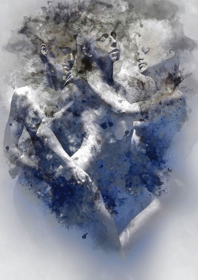 Digital watercolor painting of a women Bare Digital Drawing Digital Paint Females Watercolour Digital Art Digital Illustration Digital Painting Digitally Altered Digitally Generated Digitally Generated Image Female Figures Gray Grey Illustration Naked_art People Pose Sensual_woman Statues Watercolor Watercolor Painting Watercolour Painting Women