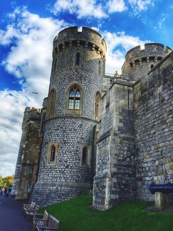 My Home is My Castle Windsor Castle Architecture Tower Travel Destinations Sky History Low Angle View The Past Stone Material Dramatic Sky Travel Photography Royal Family Windsor Berkshire Castle