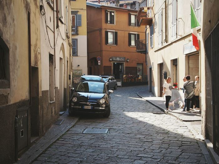 Italy in one picture Street Streetlife Life Town Townscapes Tranquility View Lovere Italy Outdoors Scenic Simplicity Italians Flag Road Community Neighbors Architecture Simple Life Beauty Beautiful Home Colors EyeEm Gallery EyeEm Best Shots The Street Photographer - 2017 EyeEm Awards The Architect - 2017 EyeEm Awards
