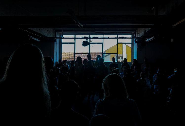 Crowd during seminar