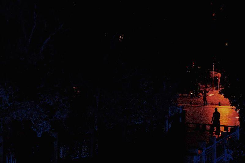 生活 Night Illuminated Architecture No People Building Exterior Nature Built Structure Copy Space Outdoors Low Angle View Lighting Equipment Celebration Sky Building Wall - Building Feature Tree City Dark Event Nightlife