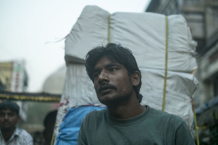 Portrait a New Delhi India Day Face Front View Headshot Incidental People Lifestyles Men Portrait Streetphotography