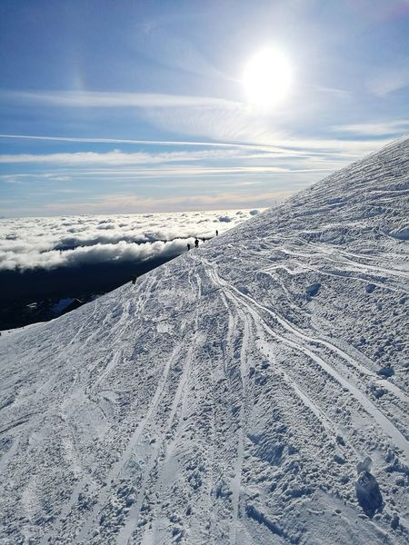Ice Age Cold Temperature Snow Season  Winter Volcano Skiing 🎿