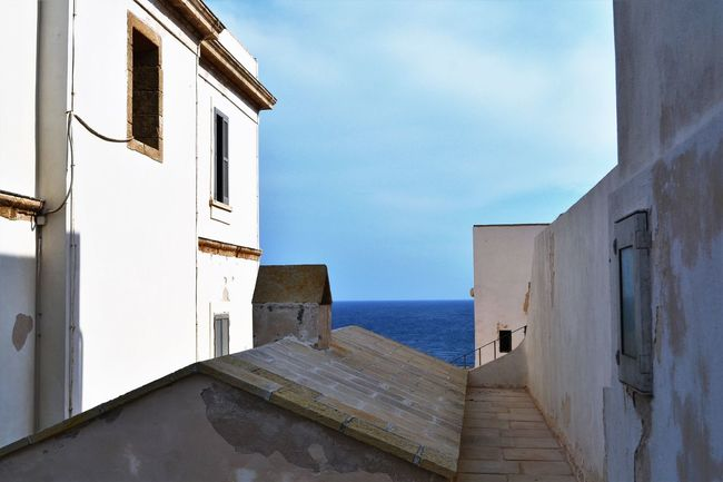 Architecture Blue Building Exterior Built Structure Cloud - Sky Day History Horizon Over Water House No People Outdoors Puglia Punta Palascia Punto Più Ad Est D'Italia Salento Scenics Sea Sky The Way Forward Tranquil Scene Tranquility Wall - Building Feature Water