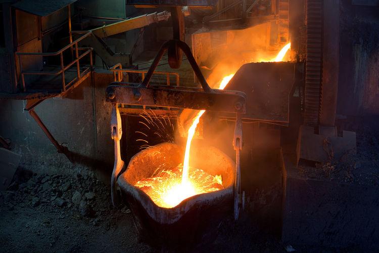 Molten Metal In Factory