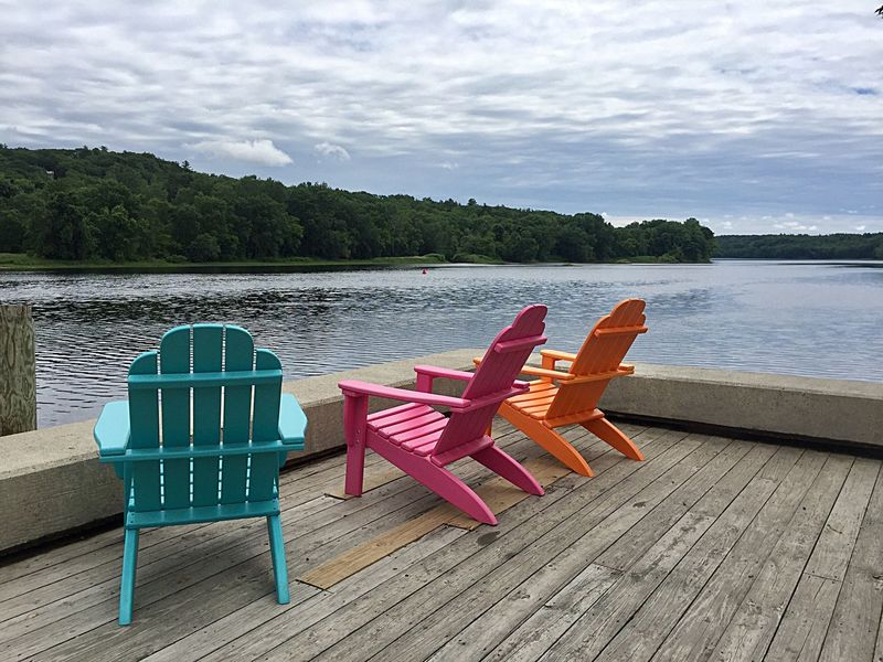Chair Water Wood - Material Tranquility No People Nature Sea Cloud - Sky Tranquil Scene Sky Vacations Day Relaxation Beach Outdoors Summer Beauty In Nature Scenics Travel Destinations Pedal Boat
