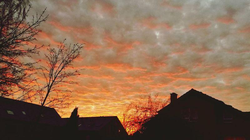 Dramatic Sky Sunset Cloud - Sky Outdoors Himmel Und Wolken