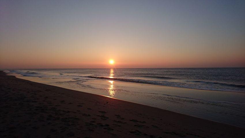 Sunset on the beach. Sunset Sea Beach Horizon Over Water Beauty In Nature Sun Nederland Zuid-Hollands Landschap Zuidholland Beach Life Noordwijk Noordzee Strand Shore Winter Nederlandse Natuur