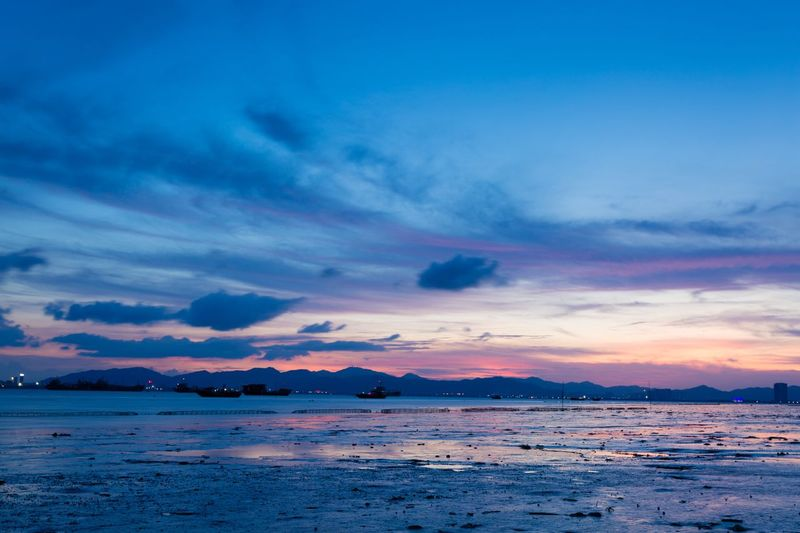 Water Sea Sky Sunset Cloud - Sky Beauty In Nature Scenics - Nature Beach Nature Blue Outdoors No People