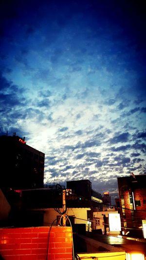 Evening Sky Cloud Buildings