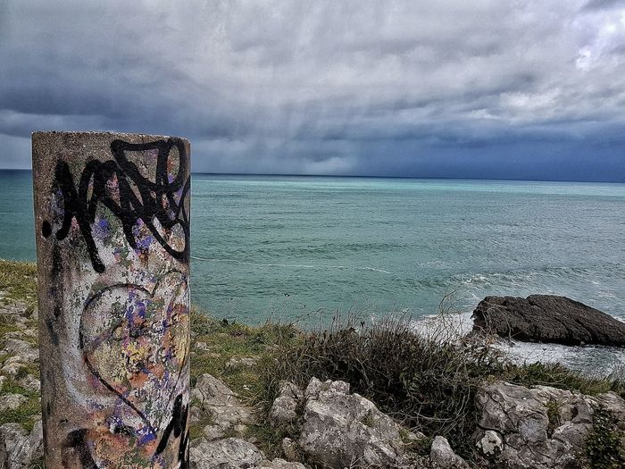 Sea Horizon Over Water Cloud - Sky Nature Beauty In Nature Tormented Tormentamaslluvia Movilgrafía Beauty In Nature Movilefotografy Sonabia Castro Urdiales (Cantabria) LoveNature Compositing Photography