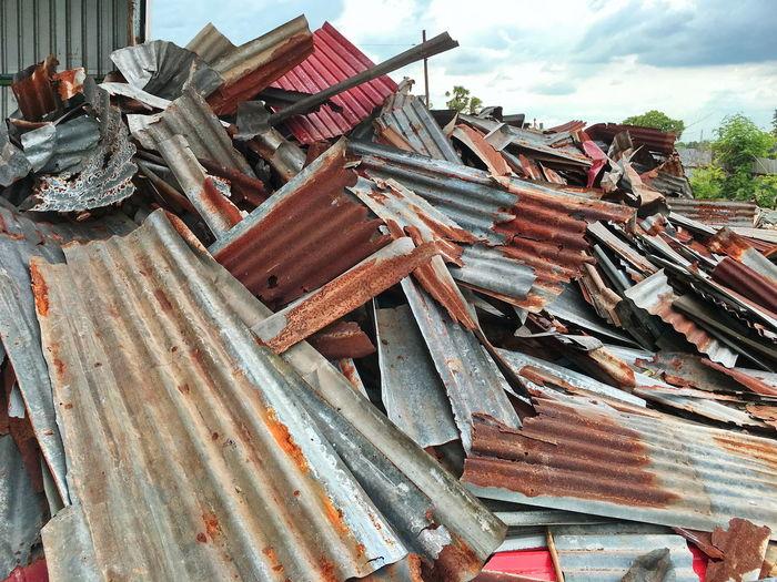 Heap of scrap metal at junkyard