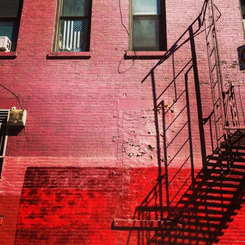 Upper East Side American Flag Architecture Building Building Exterior Day Reflection Staircase Steps Steps And Staircases Wall Wall - Building Feature Window
