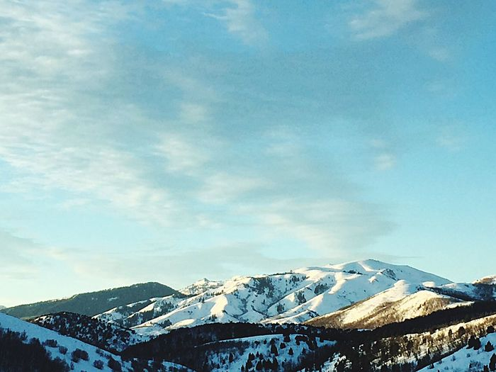 Snow Mountain Winter Cold Temperature Snowcapped Mountain Scenics Sky First Eyeem Photo