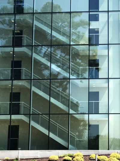 Glass stairway. Architecture Building Exterior Window Built Structure Building Outdoors Full Frame No People Day Modern City